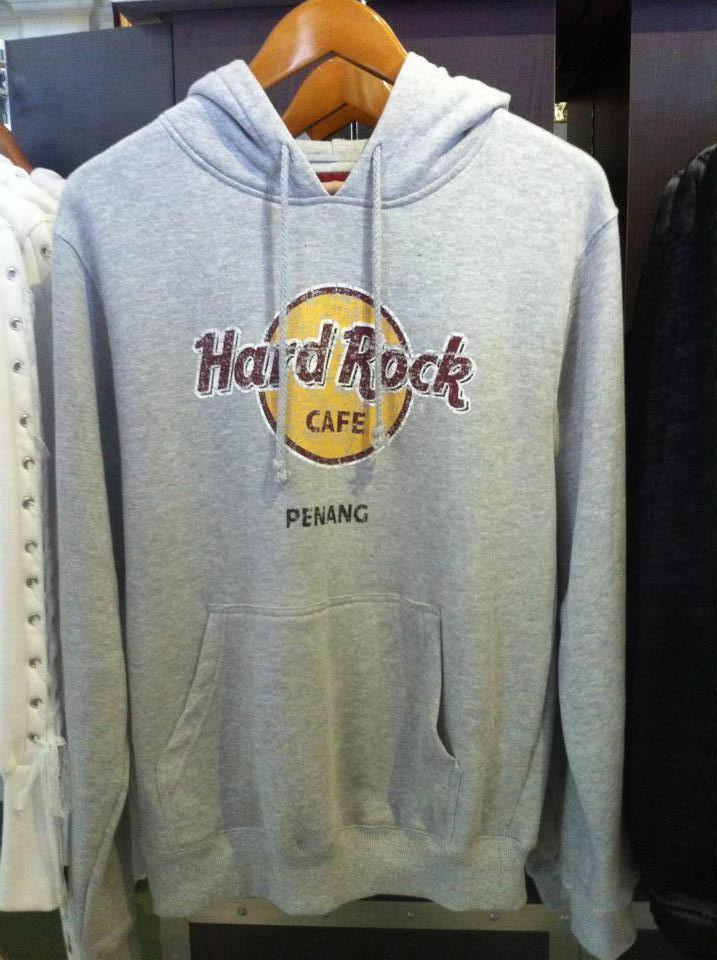 HARD ROCK CAFE PENANG CLASSIC LOGO GREY HOODIE   MERCHANDISE in 2019 ... 9d5ee57108