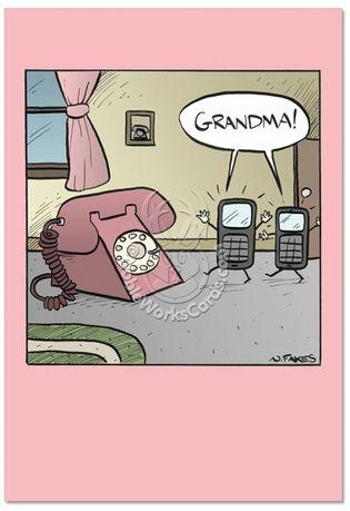 Grandma phone card funny birthday greetings birthday jokes and grandma phone card m4hsunfo