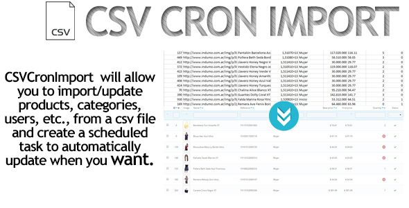 Download Free CSV Cron Import / Dropshipping PrestaShop # csv