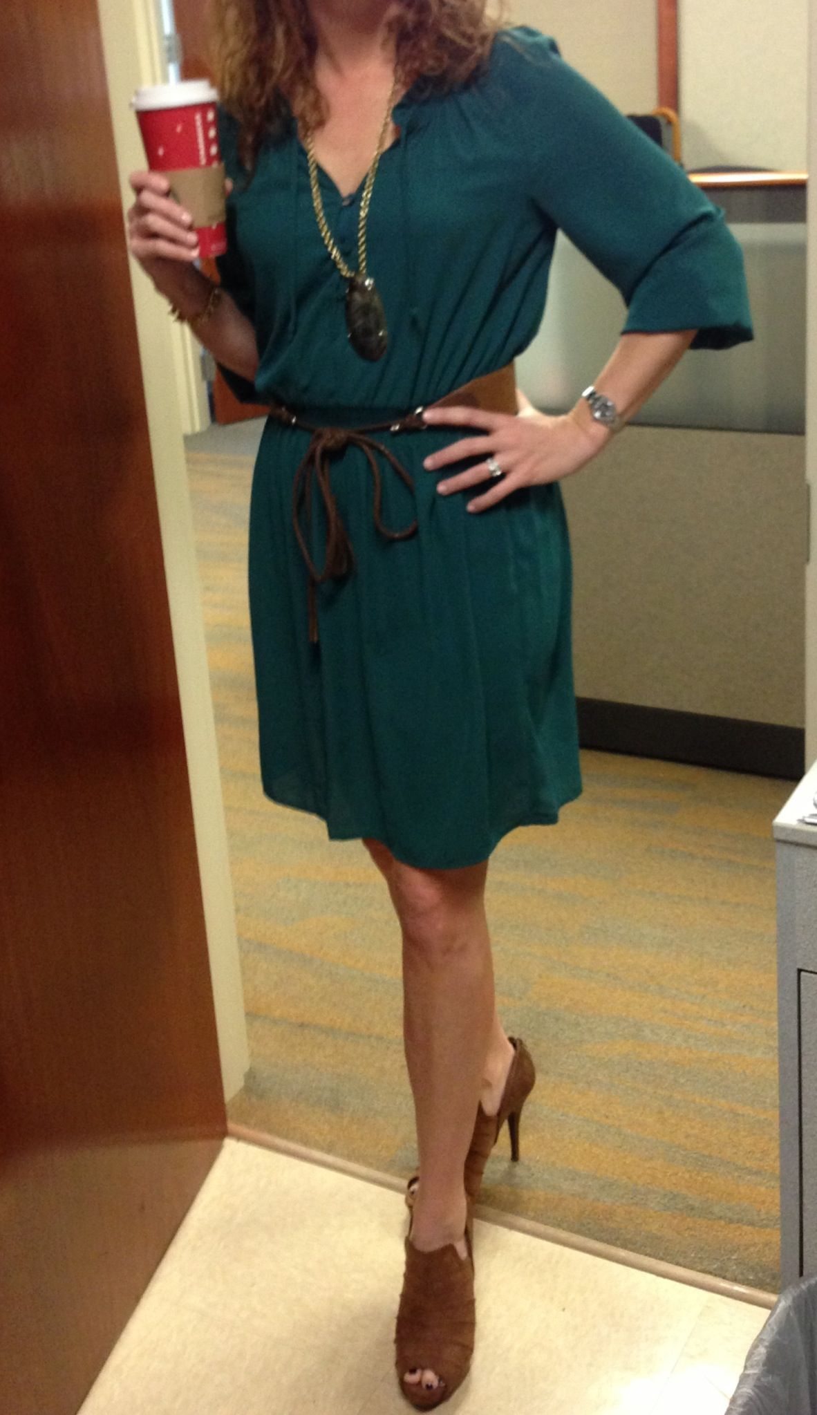 Office casualgreen and brown fashion pinterest office attire