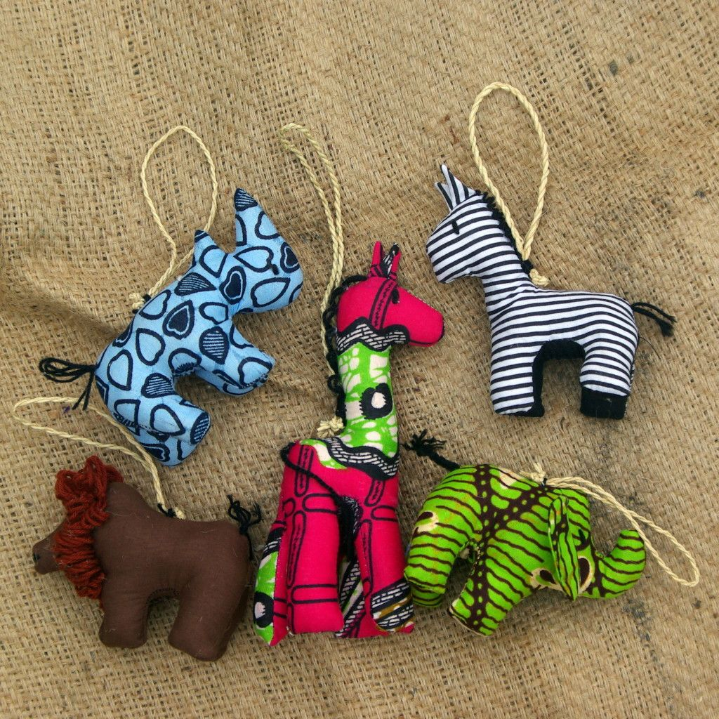 NEW Stuffed Animal Ornament Sets now online! $45 Fair trade ...