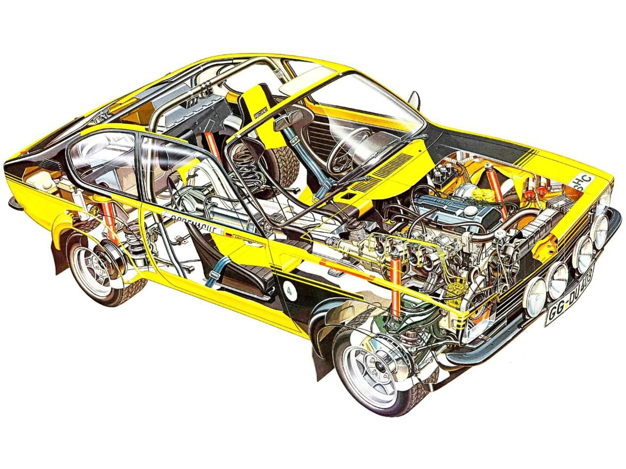 Image illustrative de l article opel ascona - Opel Kadett Gt E Rallye Car Illustration Unattributed