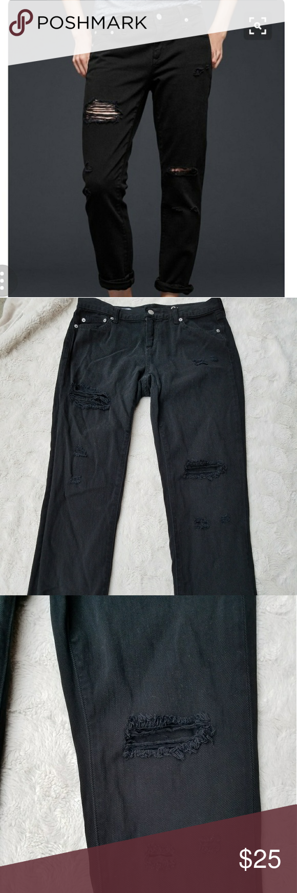 c689b92cf31 1969 Gap girlfriend jeans black distressed destroy washed once excellent  condition. true to size lightly loose fit very comfortable. please ask  questions ...