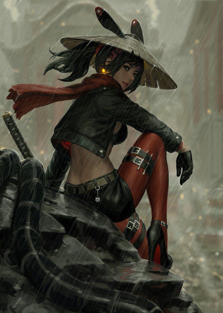 Guweiz On Twitter Female Samurai Samurai Art Samurai Artwork