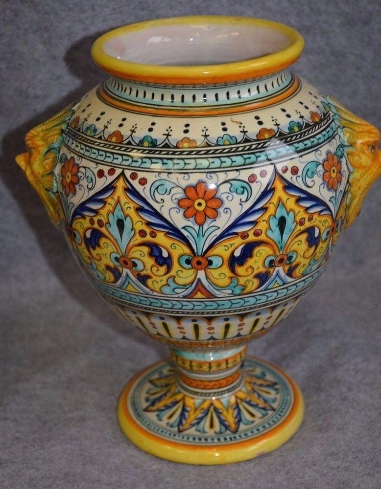 DERUTA ITALY CERAMICHE VASO dipinto | Pottery, Pottery vase and ...