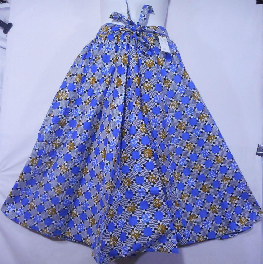 African Boho Maxi Skirt Women Ankara Wax Skirt Long Wide Flare Elastic Waist P07 #Handmade #ALine