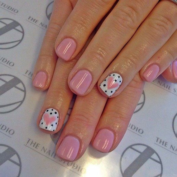 heart nail art - 70+ Heart Nail Designs | Art and Design - 70+ Heart Nail Designs Nail'd It! Pinterest Nails, Nail Art