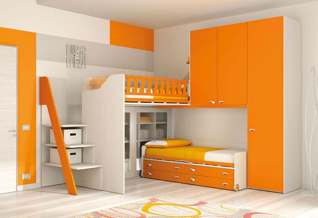 Camerette A Soppalco Moretti.Moretti Compact Cameretta Soppalco Ks114 Small Space Baby Nel