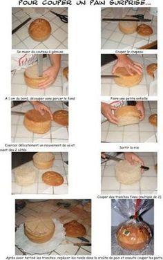 couper un pain surprise