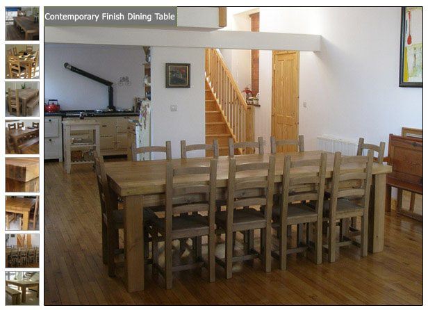 Chunky Reclaimed Wood Dining Kitchen Tables Ft X Ft Table - Reclaimed wood dining table seats 10