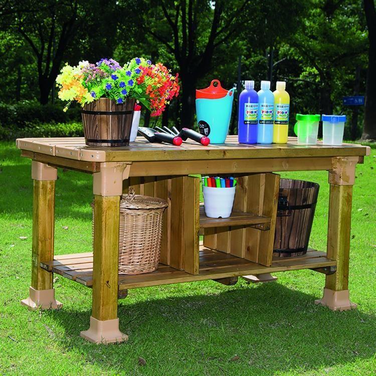 Outdoor Wooden Children's Workbench