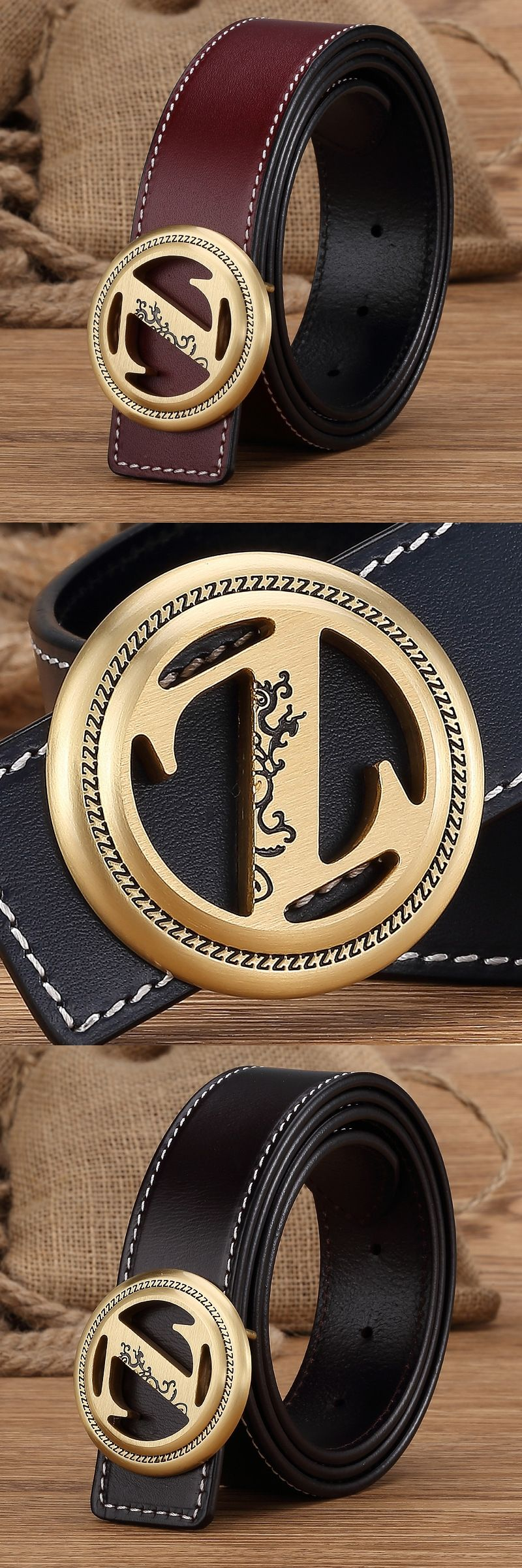 Designer Belts Solid Brass Letter Z Belt Buckle Genuine Leather Men Wide Belt  Ceinture Homme Luxury 819aff6314b