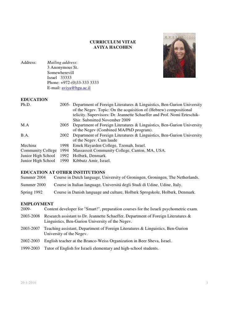 Write Cv Curriculum Vitae Example Student Resume Template Academic Cv Curriculum Vitae