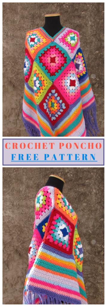 Crochet Poncho Free Pattern | häkeln, stricken, knooking | Pinterest ...