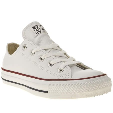 3e737c528ee womens converse white all star oxford leather trainers