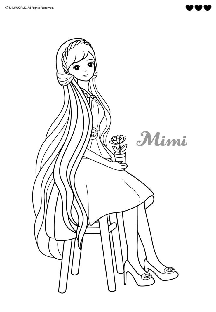 mimi doll | mimi world | Pinterest | Coloring pages ...