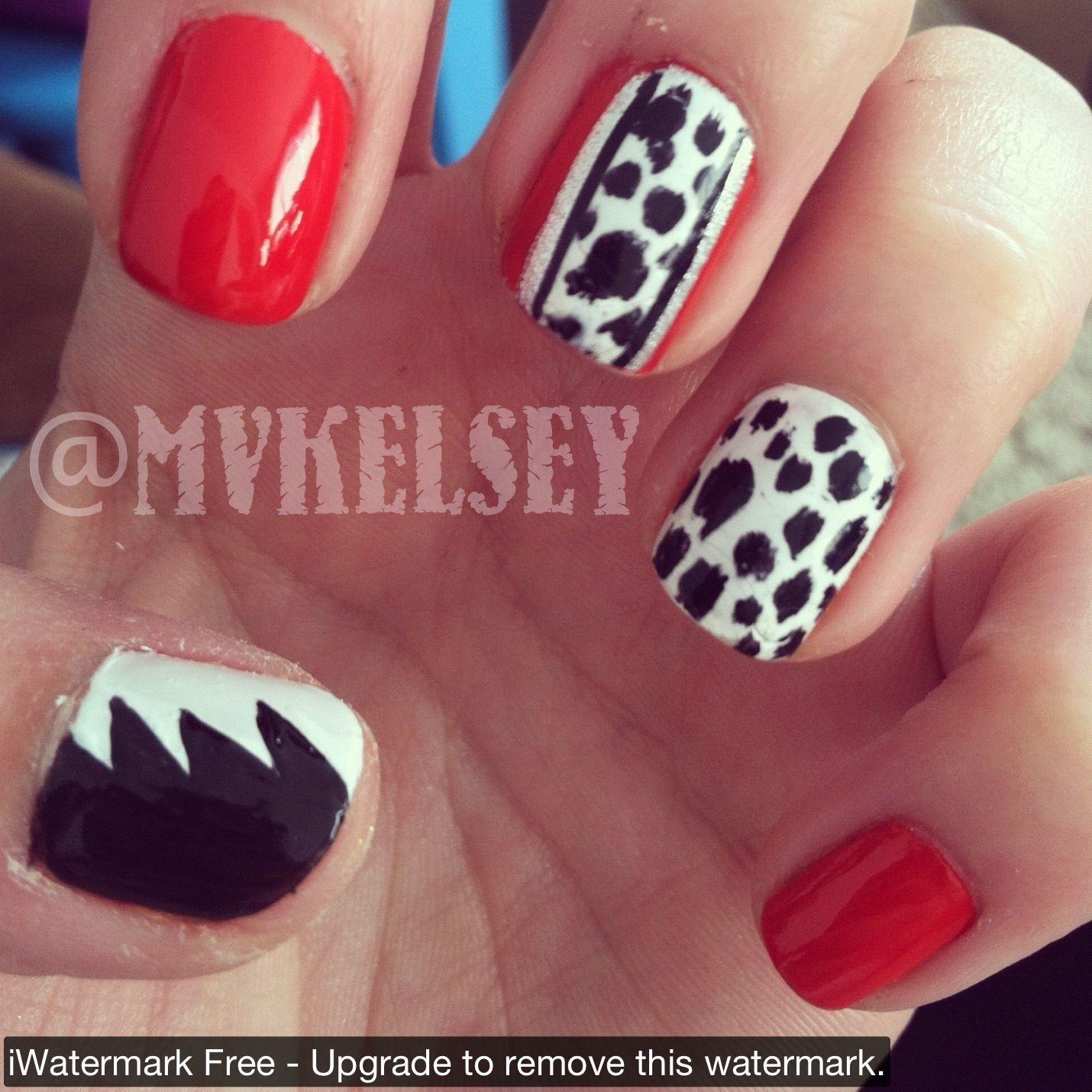 Disney cruella devil nails my nails pinterest disney nails disney cruella devil nails prinsesfo Choice Image