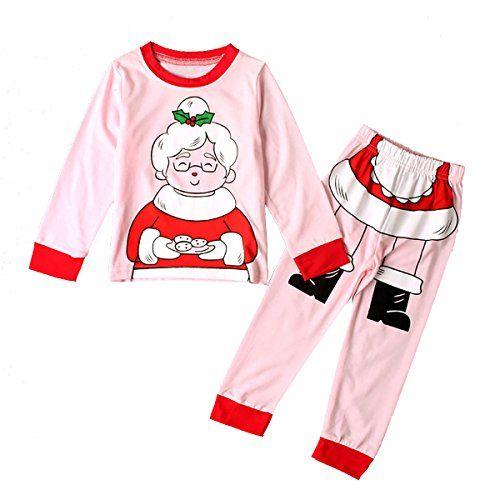 f13d74bb2f Dreamaxhp Kids Christmas Gift Cartoons Santa Claus Cotton Pajamas Set  Clothes for Girls Boys