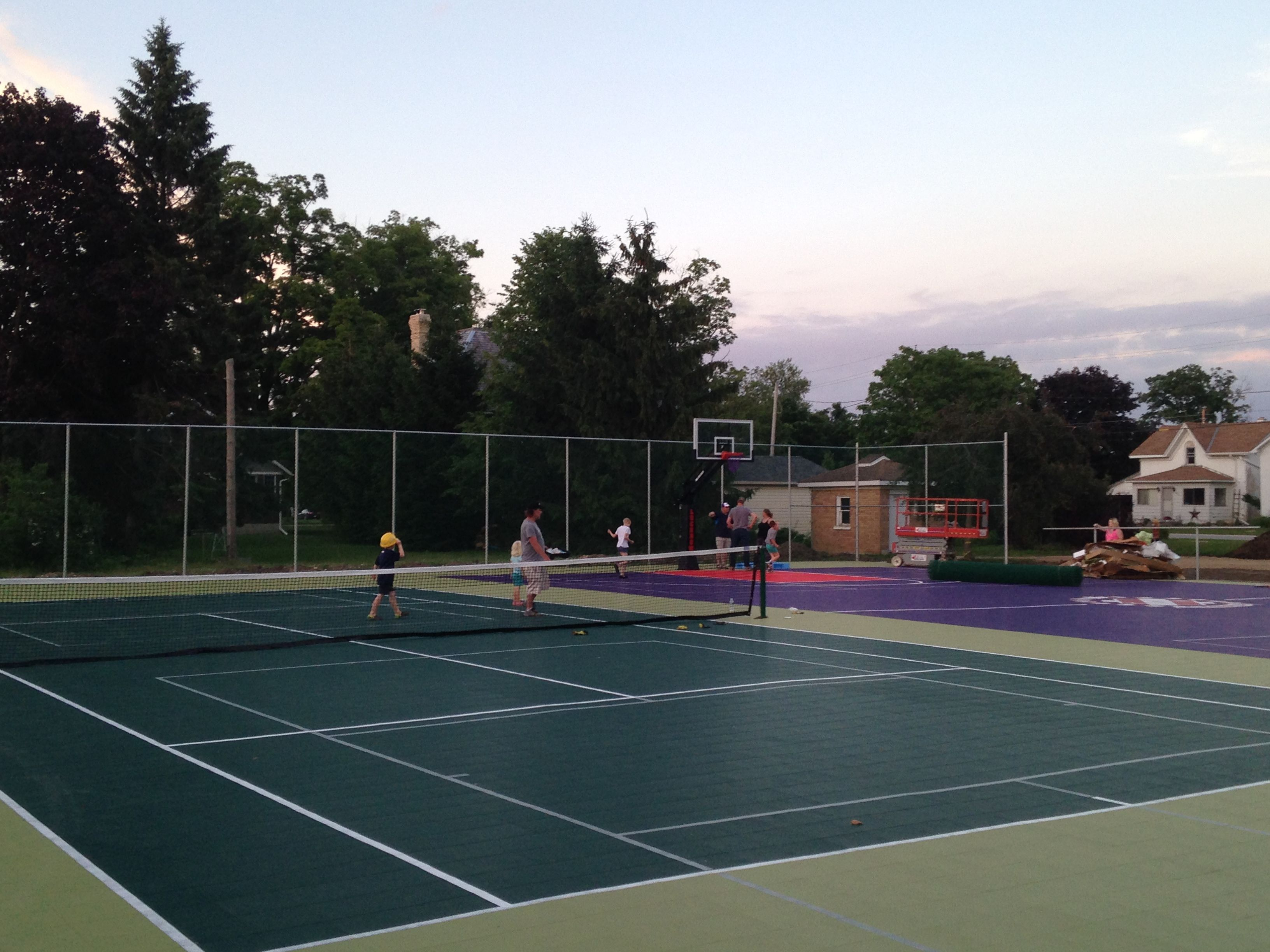 we converted these two community tennis courts into something fun