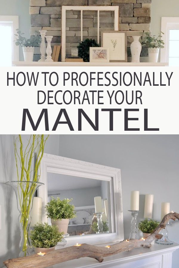 How to Professionally Decorate a Mantel images