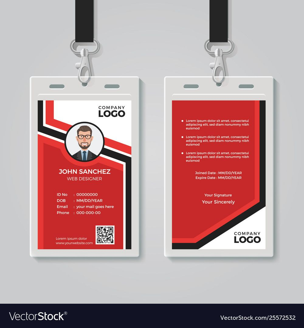 The Breathtaking Modern Red Id Card Template Pertaining To Id Card Template Ai Photo Below Is Part Of Id Id Card Template Card Templates Free Employee Id Card