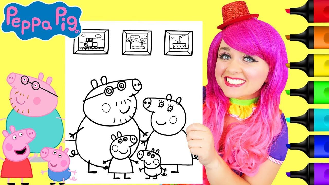 Coloring Peppa Pig Her Family Coloring Page Prismacolor Markers Kimm Family Coloring Pages Family Coloring Prismacolor Markers [ 720 x 1280 Pixel ]