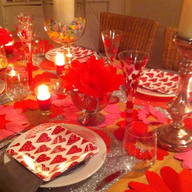 this would be a fun idea for a bunch of friends who chose to go date less loved my valentines dinner party decor and it was easy and cheap to do - Valentine Dinner Party Ideas