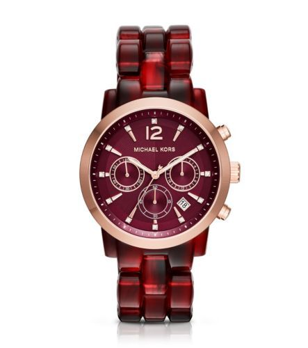 8404d7f9cf7c Audrina Burgundy Acetate and Rose Gold-Tone Watch