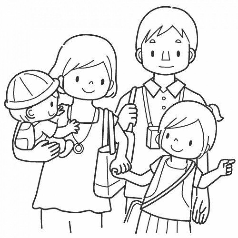 Family Coloring Pages Acefamilycoloringpages