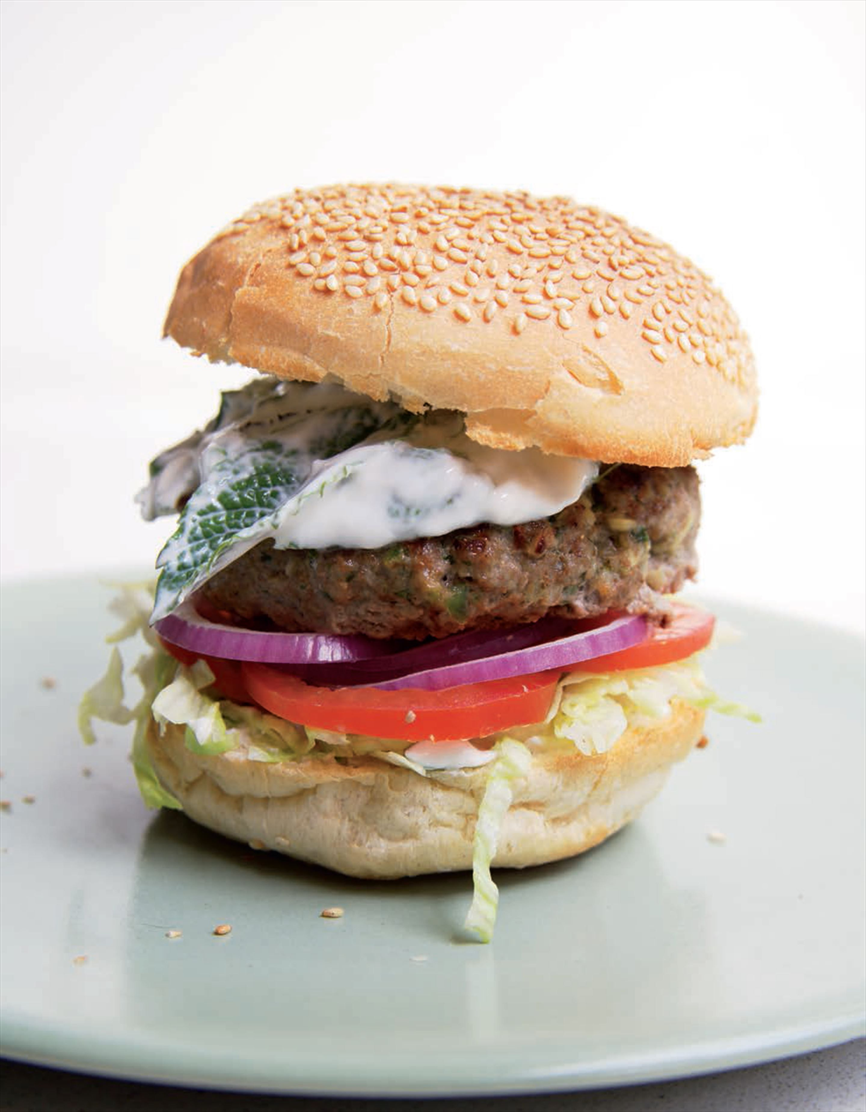 Lamb burgers with herbed yoghurt recipe from indian food made easy lamb burgers with herbed yoghurt recipe from indian food made easy by anjum anand cooked forumfinder Images