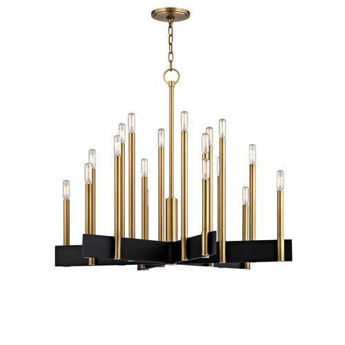 Hudson Valley Abrams Aged Brass 18 Light Chandelier On SALE