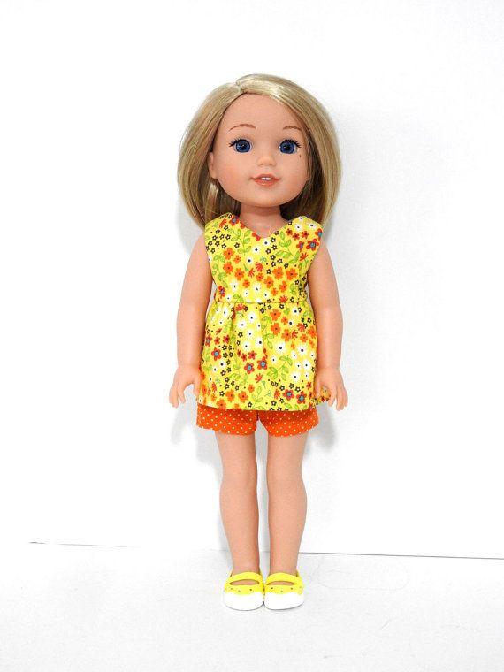 Wellie Wisher Doll Handmade Salina Top and Shorts by AvannaGirl ...
