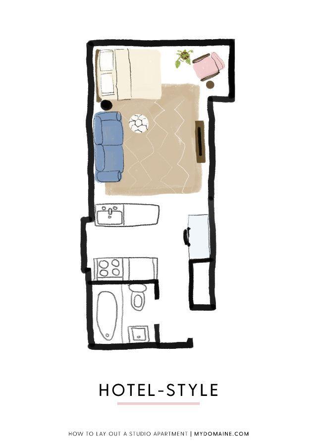 One Studio Apartment 4 Ways Follow Our Stylish Guide Studio Apartment Studio Apartment Plan Minimalist Studio Apartment