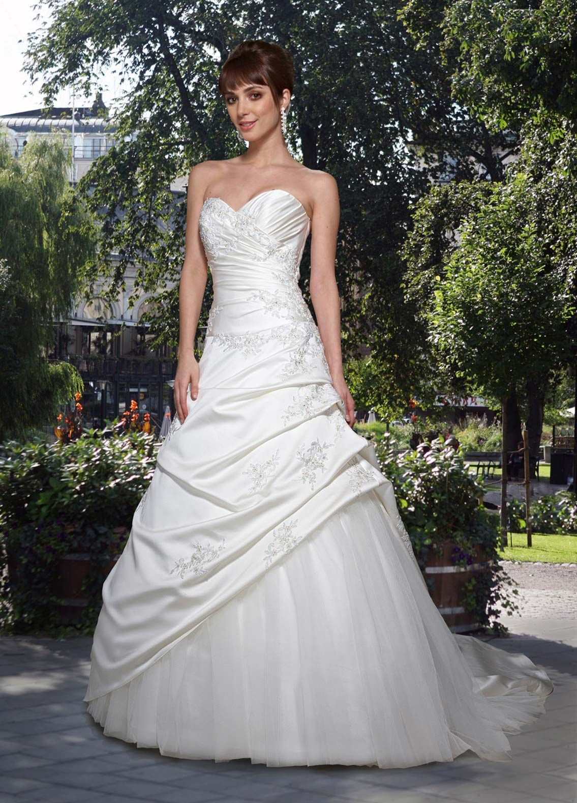 Pleated wedding dress  Da Vinci Bridal Style   kelseyus wedding  Pinterest  Wedding