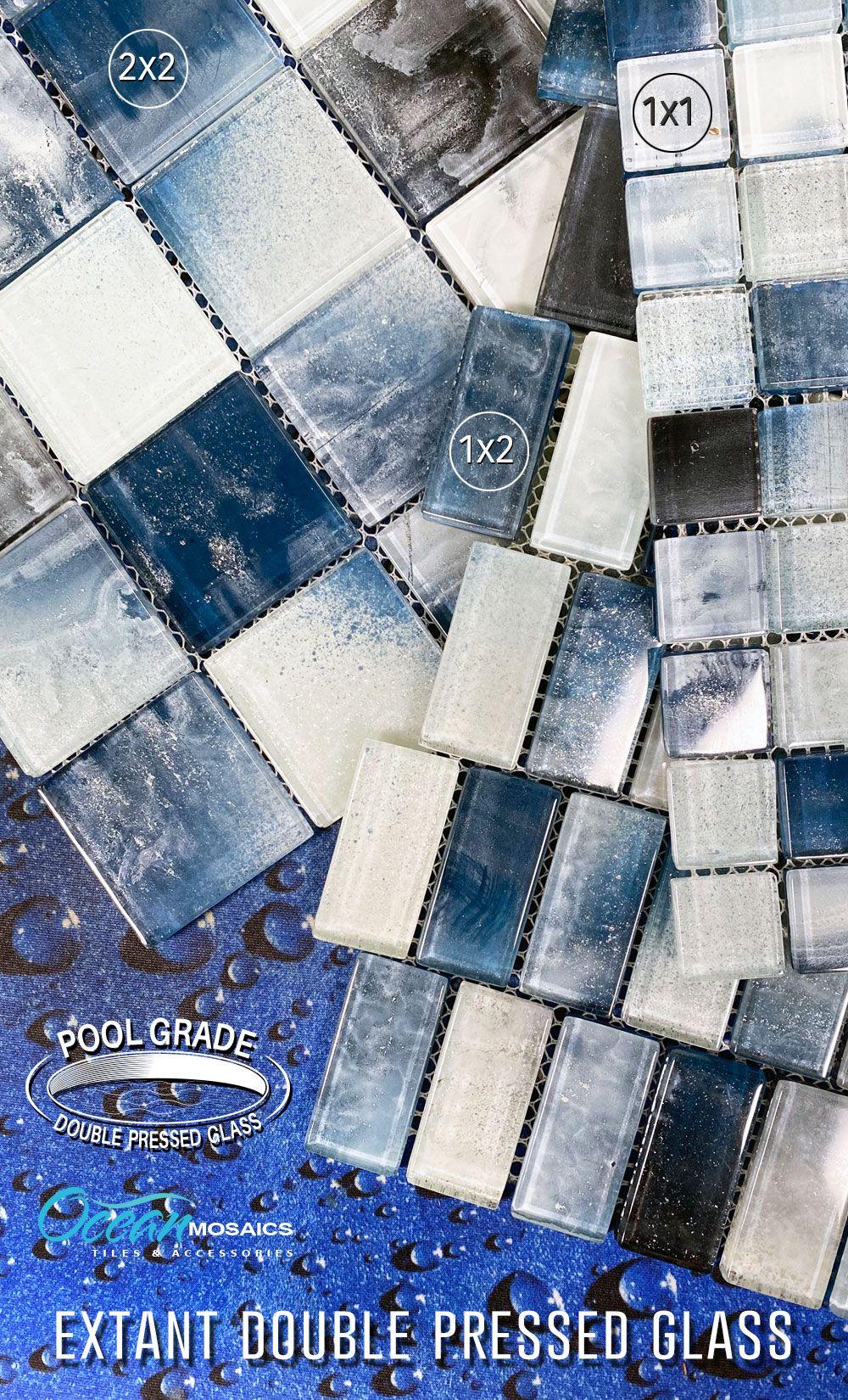 swimming pool tile idea mosaic glass