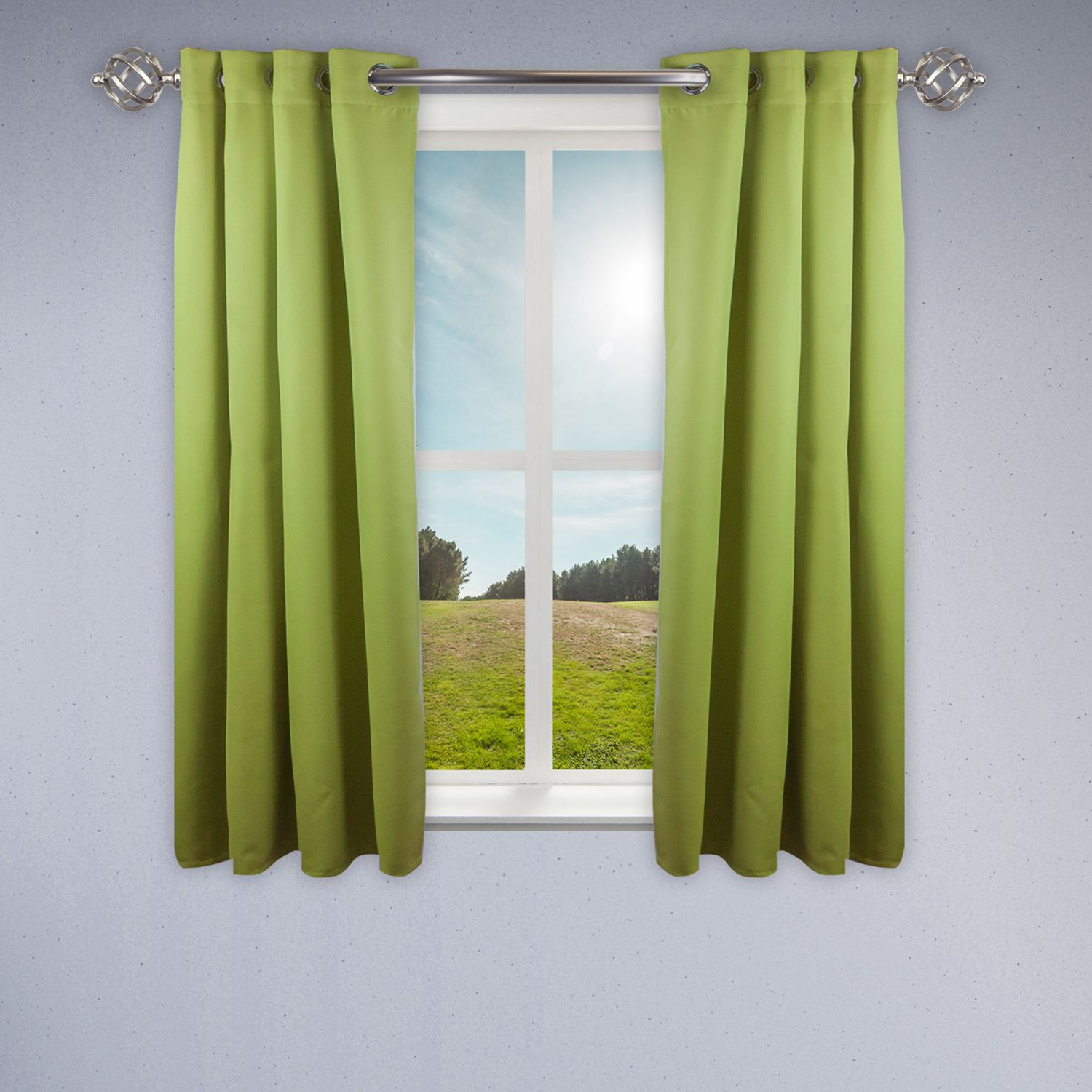 Green Room Darkening 52 X63 Curtain Curtains Rod Desyne Panel Curtains