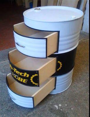 Reciclar barril, tambor, toneis de metal, IDEAS Pinterest - bartisch für küche
