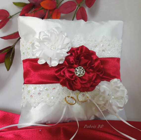 FREE Shipping Wedding ring bearer pillow by DuboisBridalDesigns