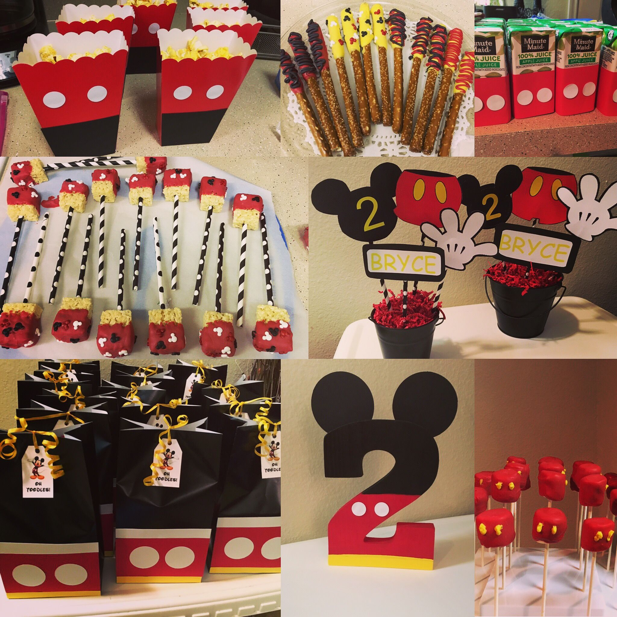 Party Favor Gift Bags Candy Treat Birthday Baby Shower Wedding Mickey Minnie The