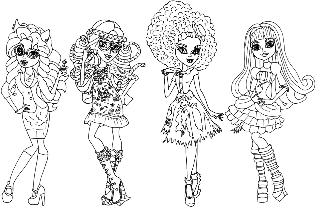 Monster High Malvorlagen Ausmalbilder Zum Ausdrucken Monster High