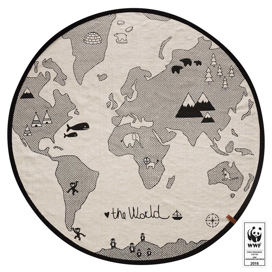The World Rug Australia Stylish Round For Nursery Map Of That