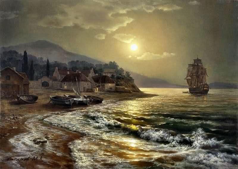 Yagliboya Deniz Manzara Calismalari Gunaydin Tablolar Manzara Ve Resim Sanati