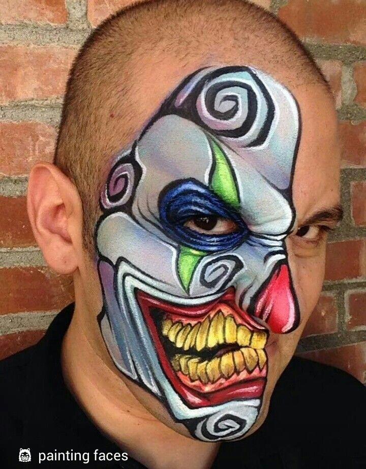 Ronny Mena Art - Facepainting Festival Pinterest Face, Face - halloween face paint ideas scary
