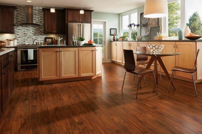Küchenfronten Streichen ~ Wände streichen ideen küche wandfliesen küche runder esstisch