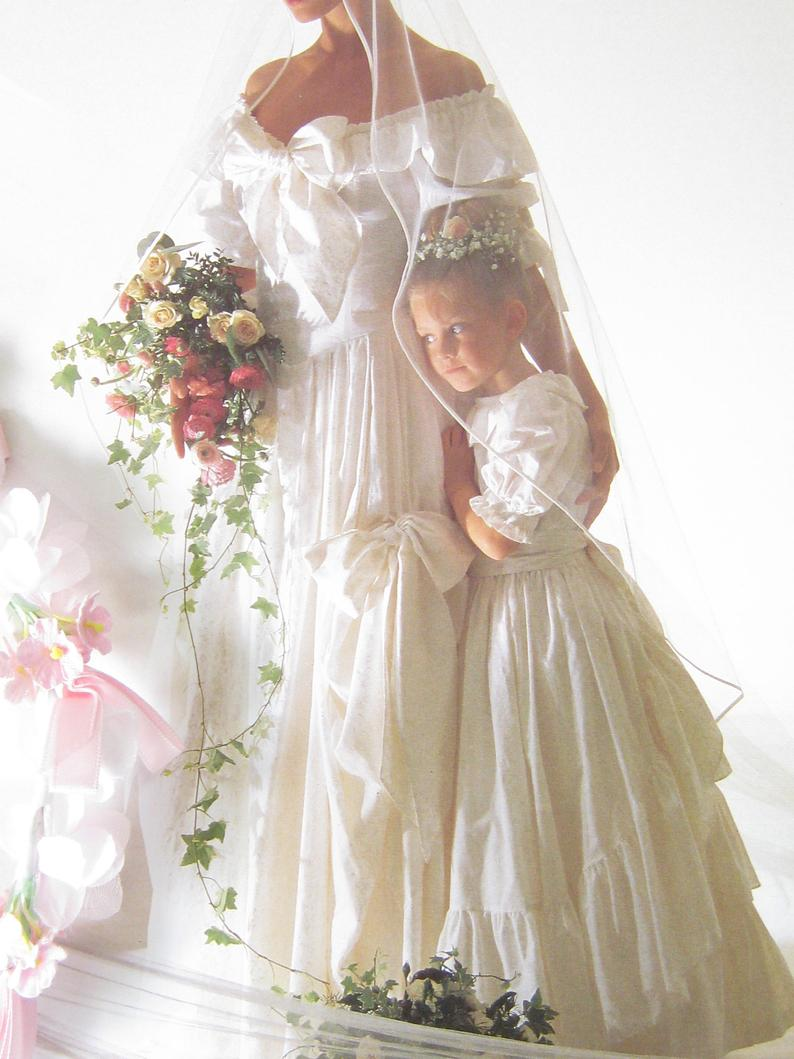 Laura Ashley Vintage Rare 1990 Bridal Fashion Catalogue Etsy Flower Girl Dresses Fashion Catalogue Bridal