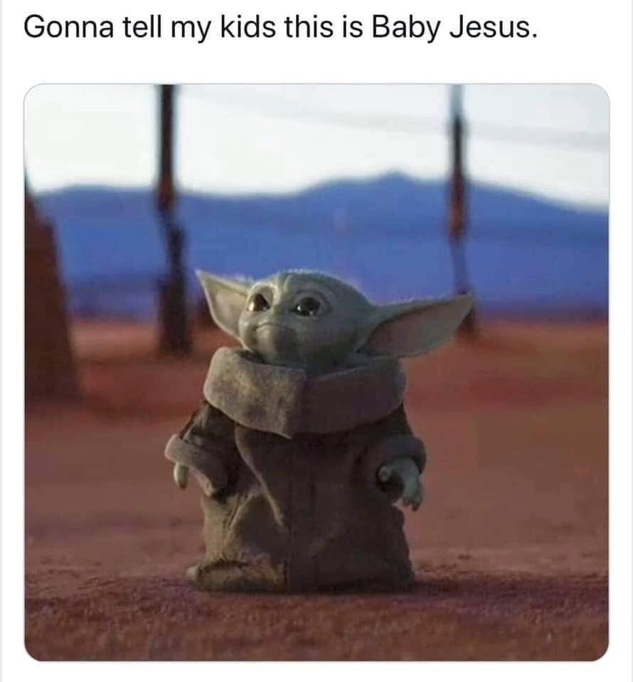 Pin By Lucia Santana On The Mandalorian Yoda Meme Funny Babies Funny Memes