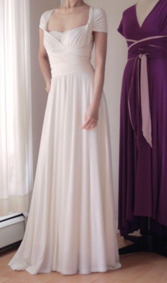 White Convertible/Infinity Dress - Floor Length | Pinterest ...