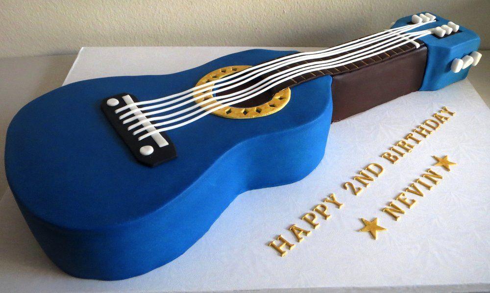 Blue Guitar Cake Yelp Satokos Cakes Pinterest Guitar cake