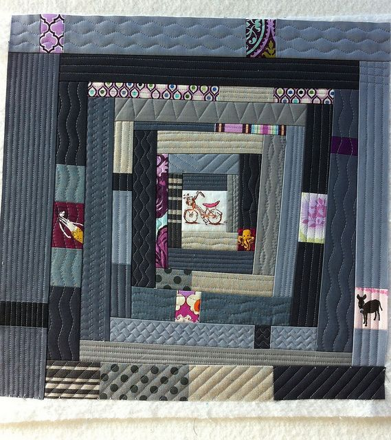 LOVE the block @hipfabric made for me!! // Monica's Yamtastic Bee Block by Hip Fabric, via Flickr