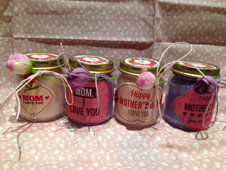 Candele Bagno ~ Festa della mamma vasetti con candele di cera di soia e oli